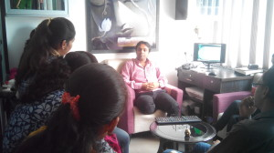 Dr.Parth Mankad teaching students
